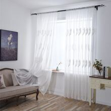 Feather Embroidery Single Panel Curtain
