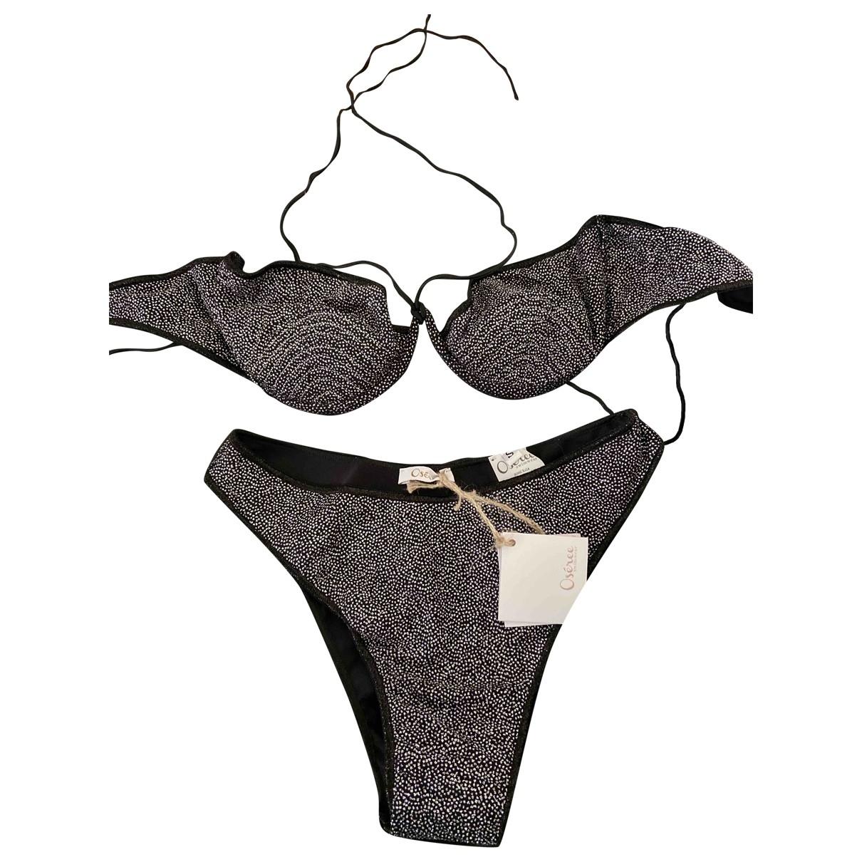 Oséree \N Black Swimwear for Women 42 IT