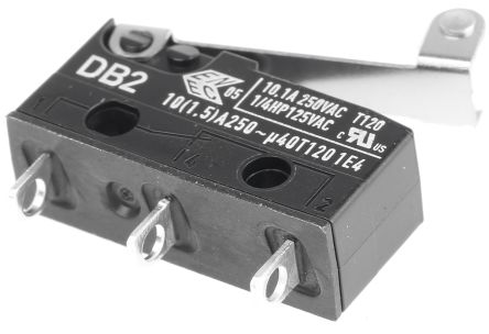 ZF SPDT-NO/NC Roller Lever Microswitch, 10.1 A @ 250 V ac