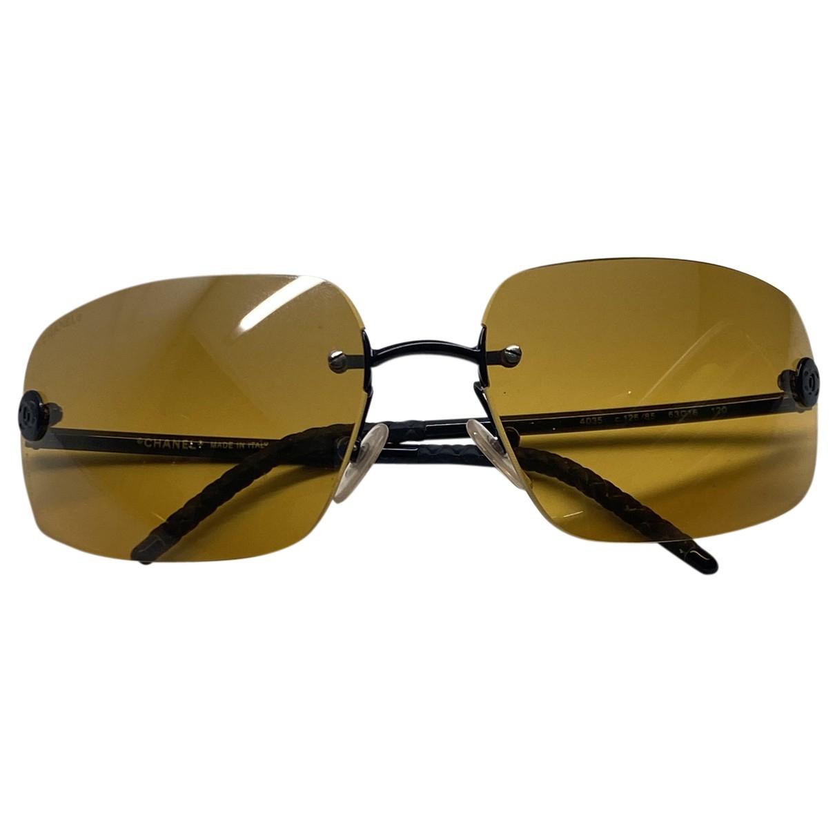 Chanel N Yellow Metal Sunglasses for Women N