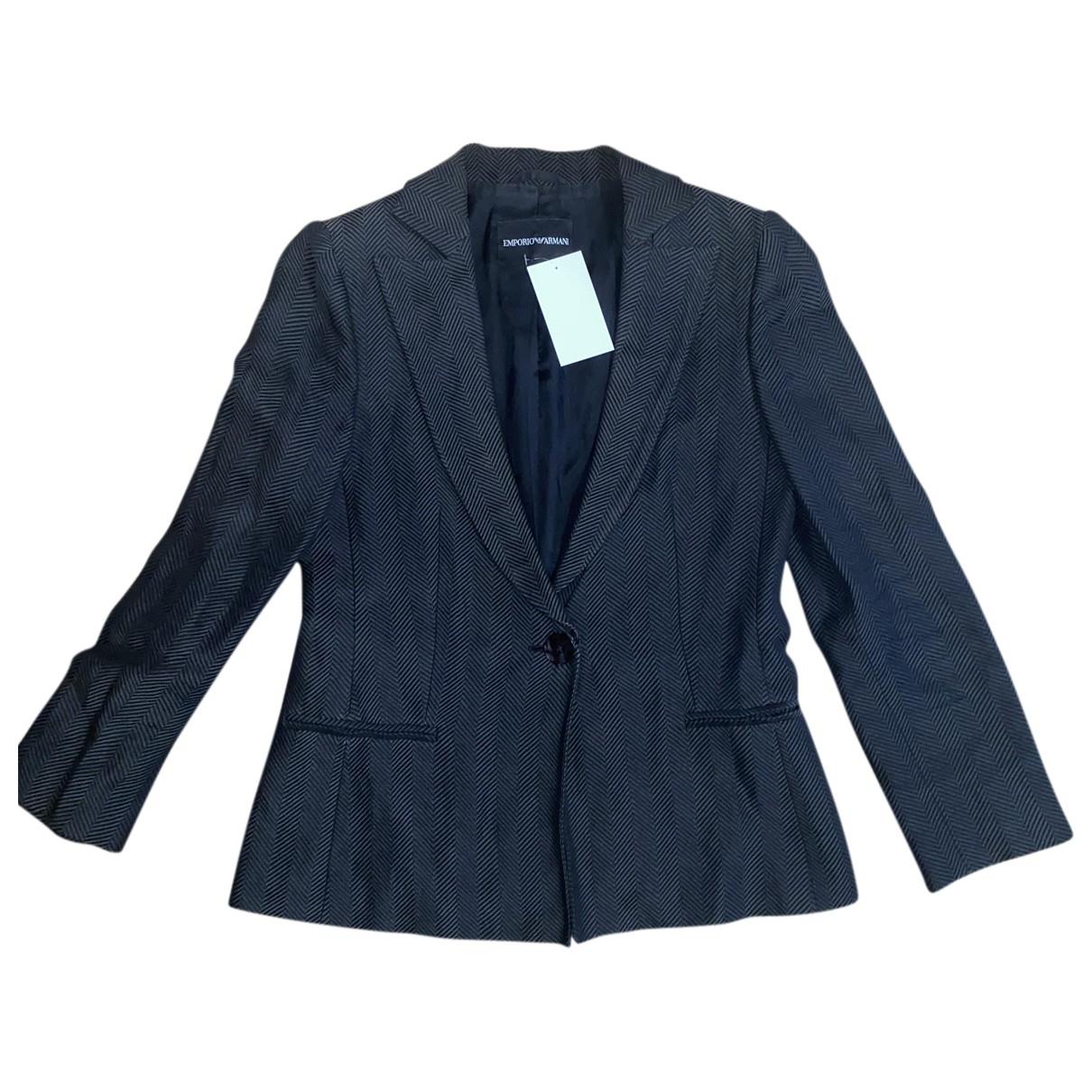 Emporio Armani - Veste   pour femme en soie - anthracite