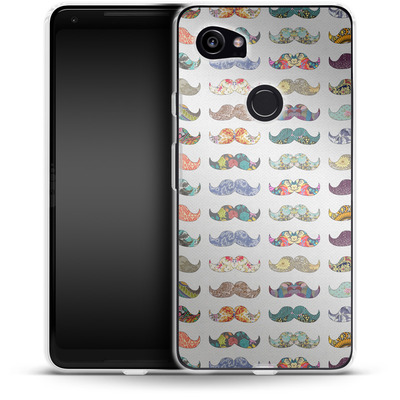 Google Pixel 2 XL Silikon Handyhuelle - Mustache Mania von Bianca Green