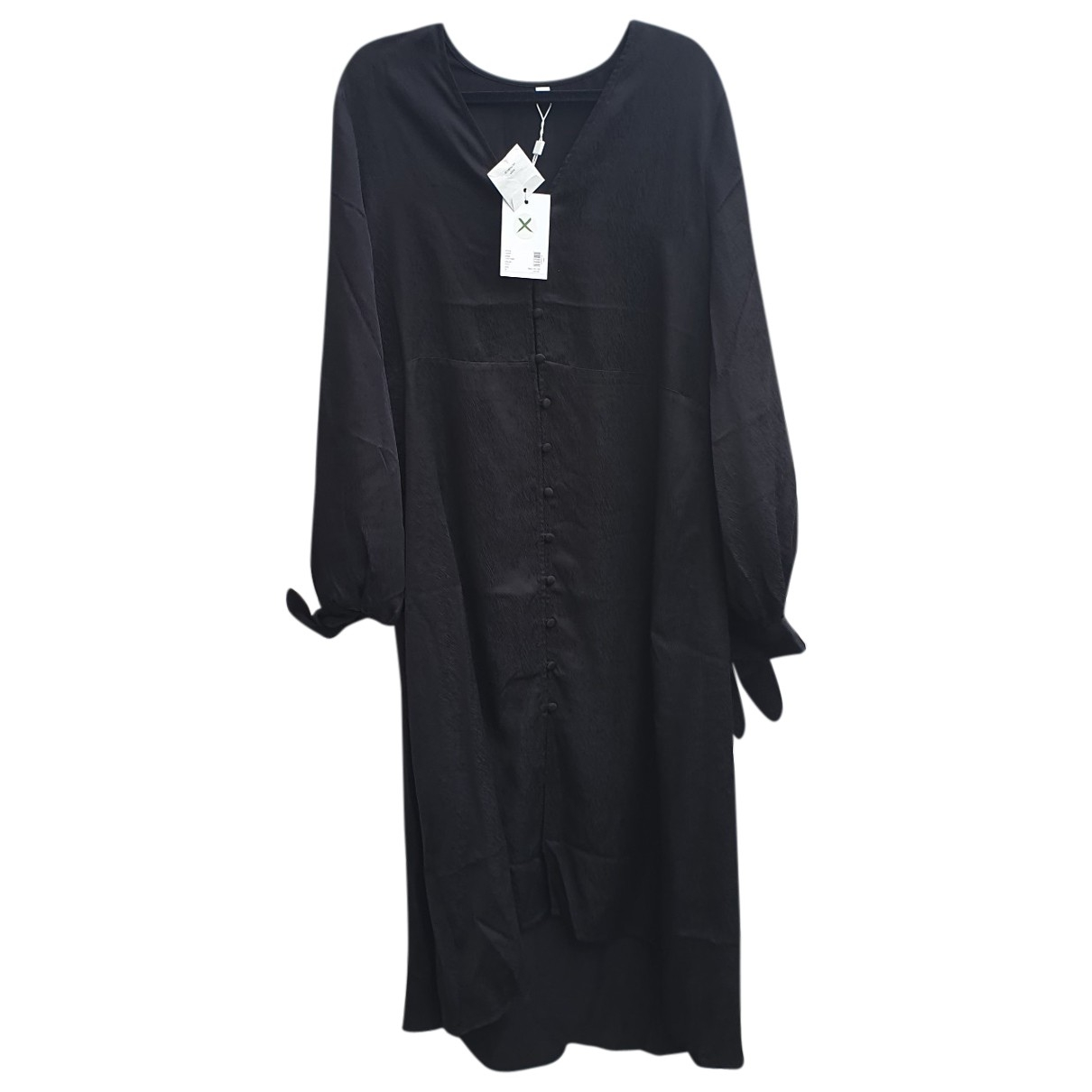 Won Hundred \N Kleid in  Schwarz Baumwolle