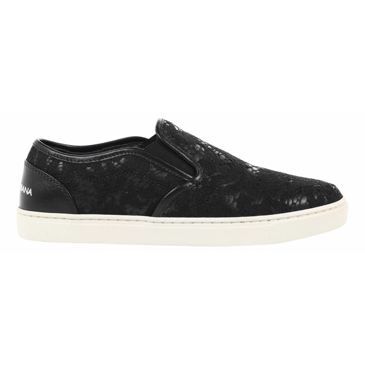 Dolce & Gabbana \N Black Leather Trainers for Women 35 EU