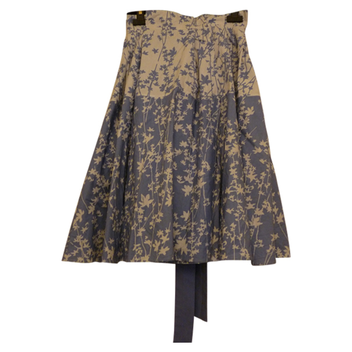 Celine \N Blue Cotton skirt for Women 38 FR