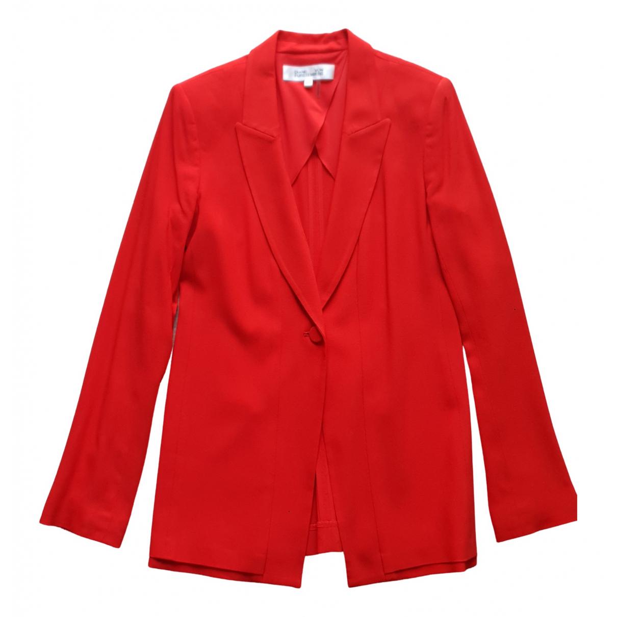 Diane Von Furstenberg - Veste   pour femme - rouge