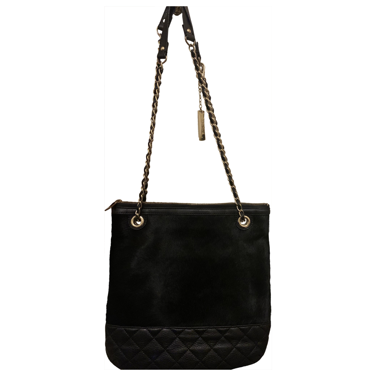 Dkny \N Black Faux fur handbag for Women \N