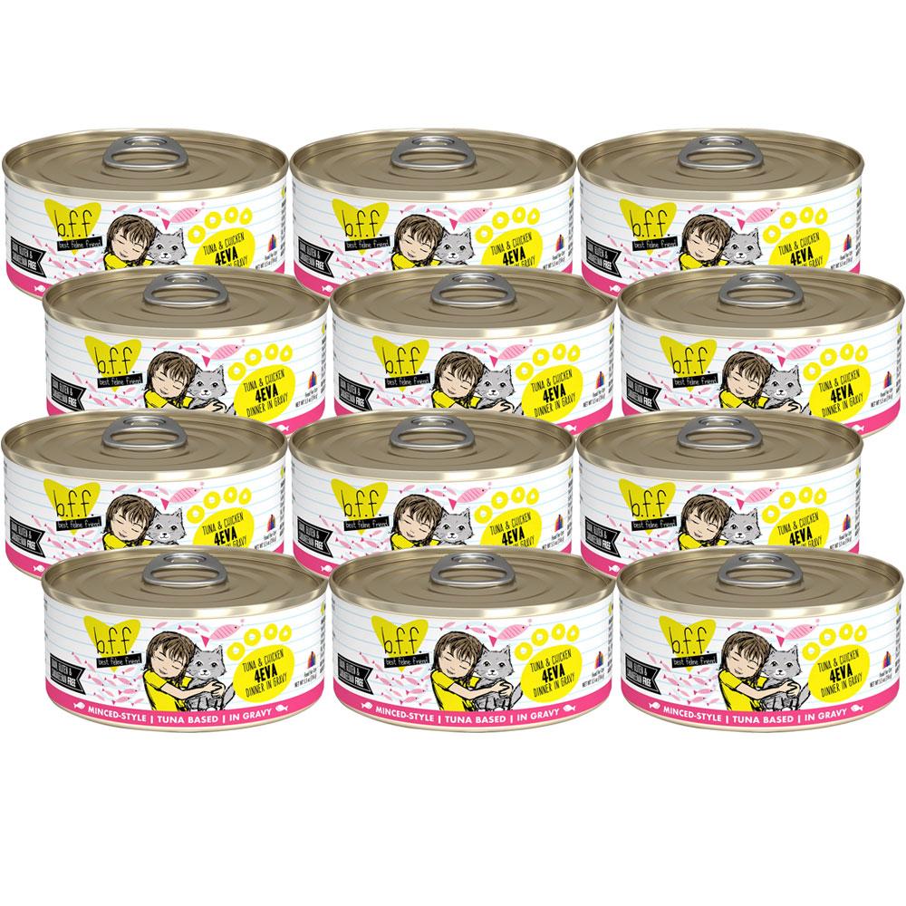 Weruva Best Feline Friend Canned Cat Food, Tuna and Chicken 4Eva Recipe 12-Pack (66 oz)