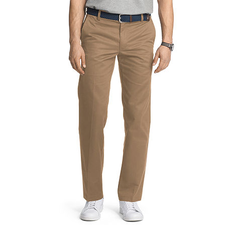 IZOD American Chino Mens Slim Fit, 32 29, Beige