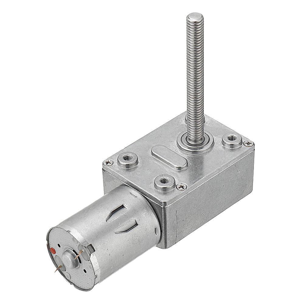 Machifit JGY370 50mm-M6 Screw Worm Gear Motor DC 6/12/24V 150RPM Self-locking Reduction Gear Motor