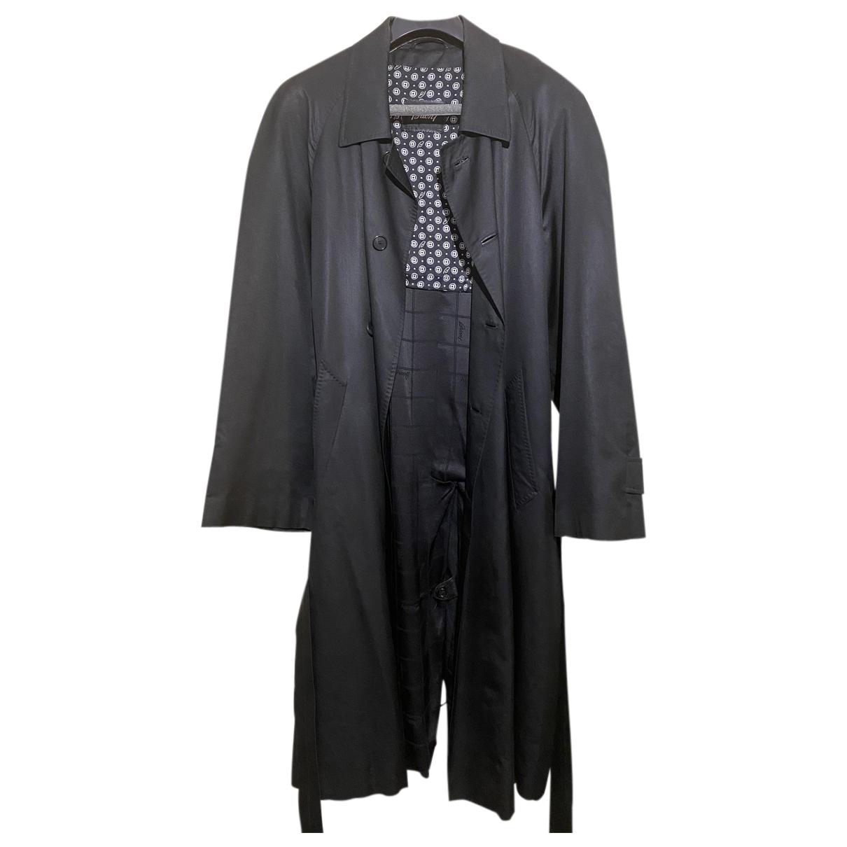 Brioni - Manteau   pour homme en coton - noir