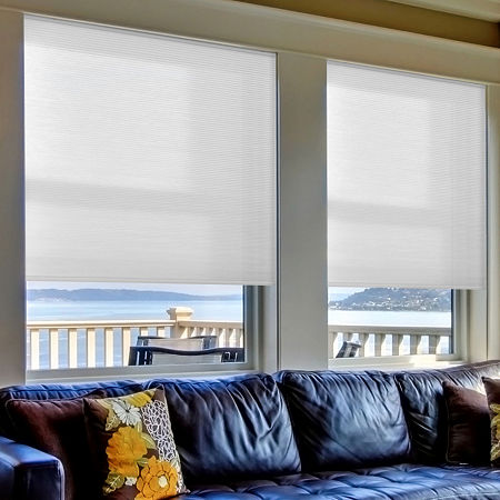 Home Expressions Cut-to-Width Cordless Light-Filtering Cellular Shade, One Size , White