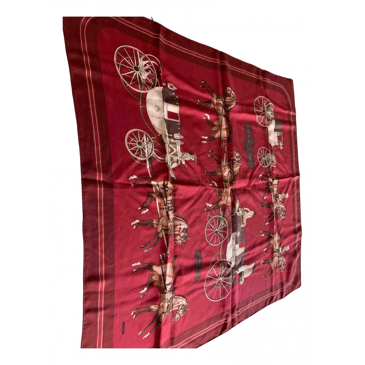 Hermes - Foulard   pour femme en soie - bordeaux