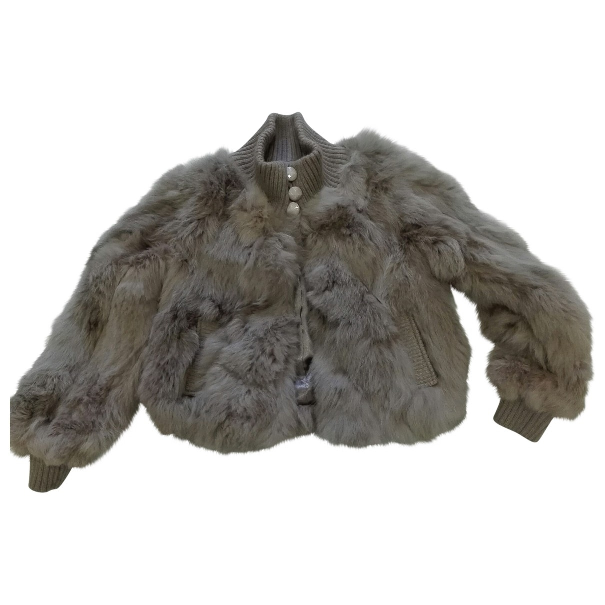 Non Signé / Unsigned \N Ecru Rabbit jacket & coat for Kids 3 years - up to 98cm FR
