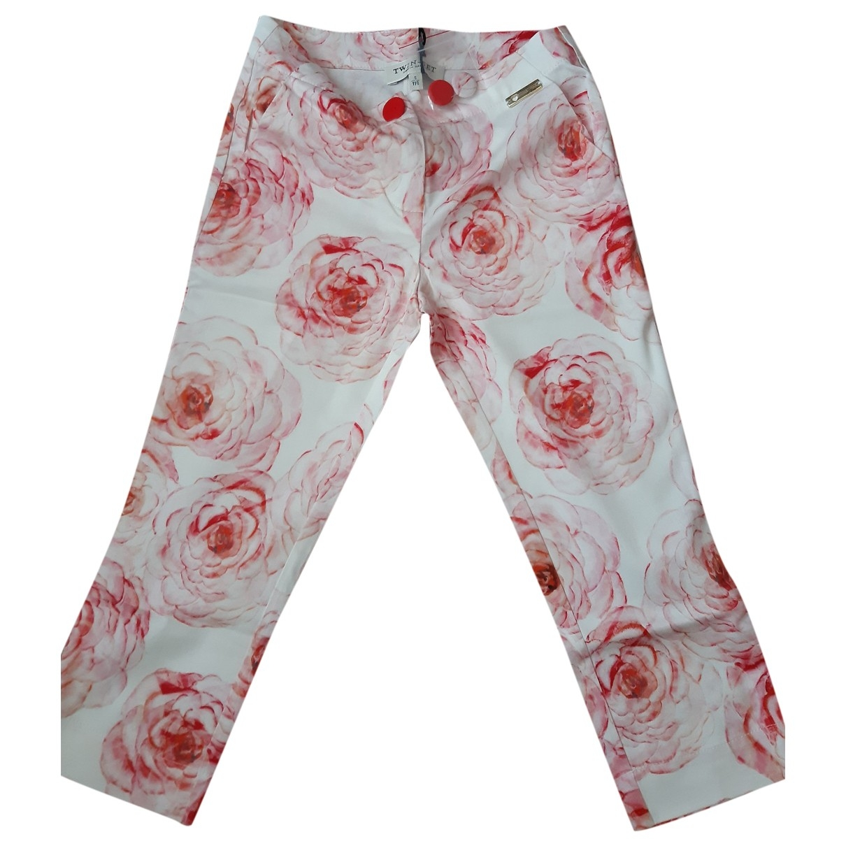 Twin Set \N Pink Cotton Trousers for Kids 6 years - up to 114cm FR