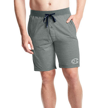Champion Jersey Pajama Shorts, Large , Gray