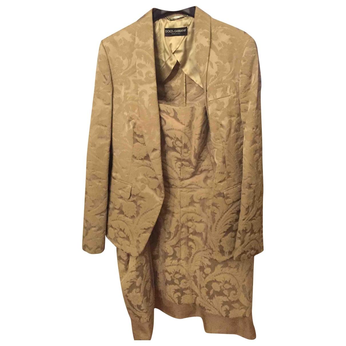Dolce & Gabbana - Veste   pour femme en coton - ecru
