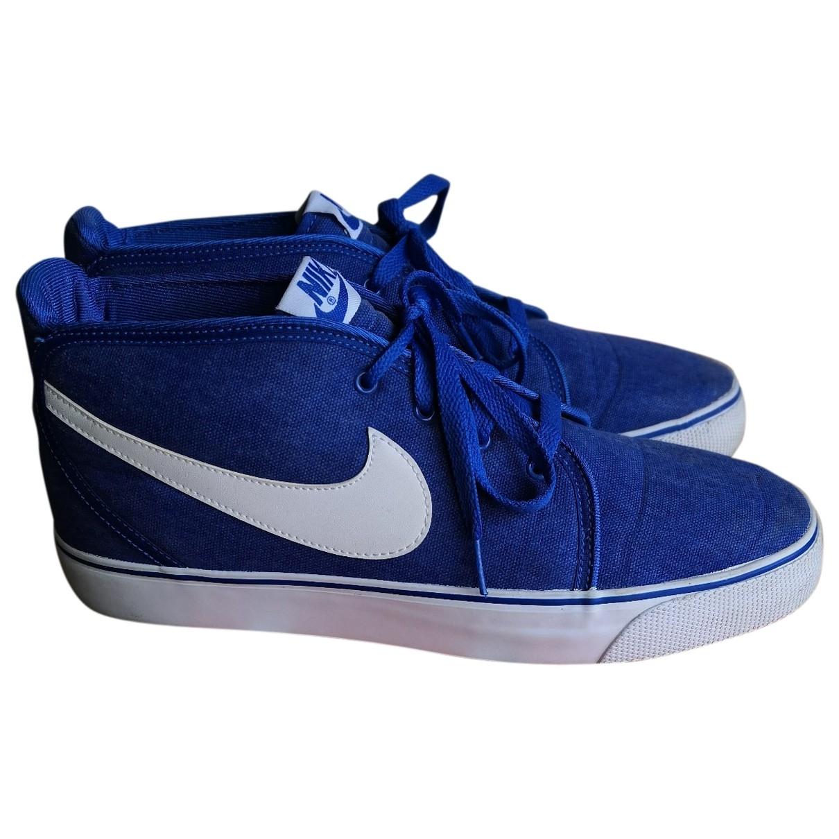 Nike SB Stefan Janoski Sneakers in  Blau Leinen