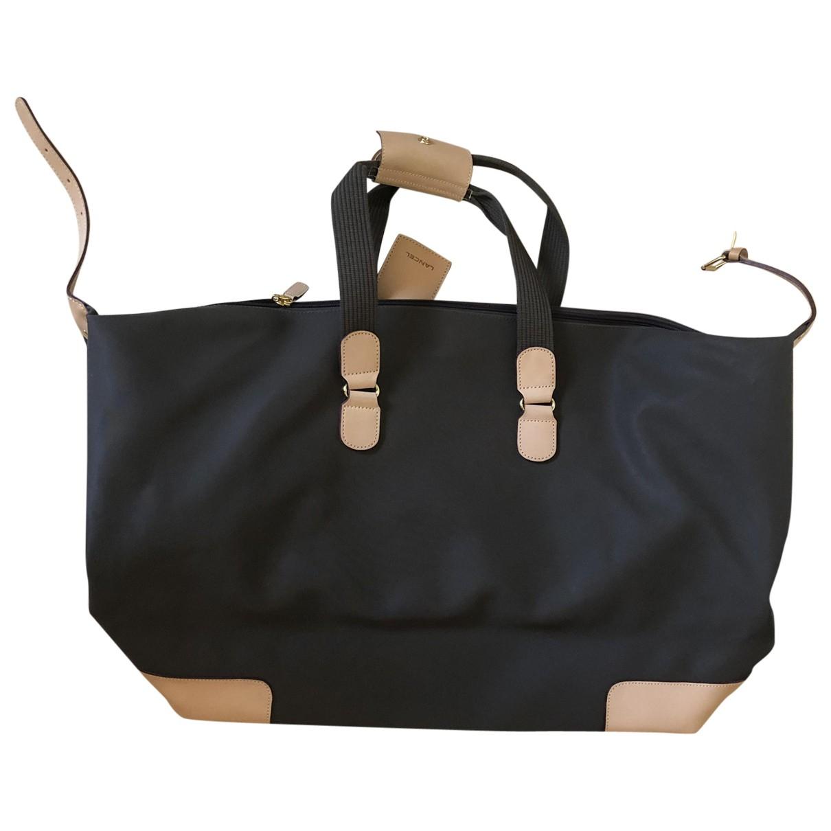Lancel \N Brown Cloth Travel bag for Women \N