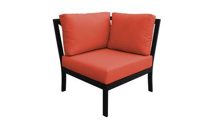 KI062b-CS-TANGERINE Madison Ave. Corner Chair with 1 Set of Snow and 1 Set of Persimmon