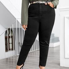 Plus Curvy High Stretch Skinny Jeans Without Belt
