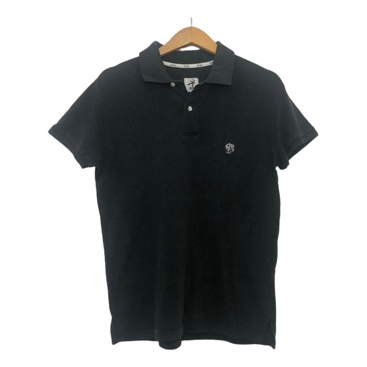Issey Miyake - Polos   pour homme en coton - noir