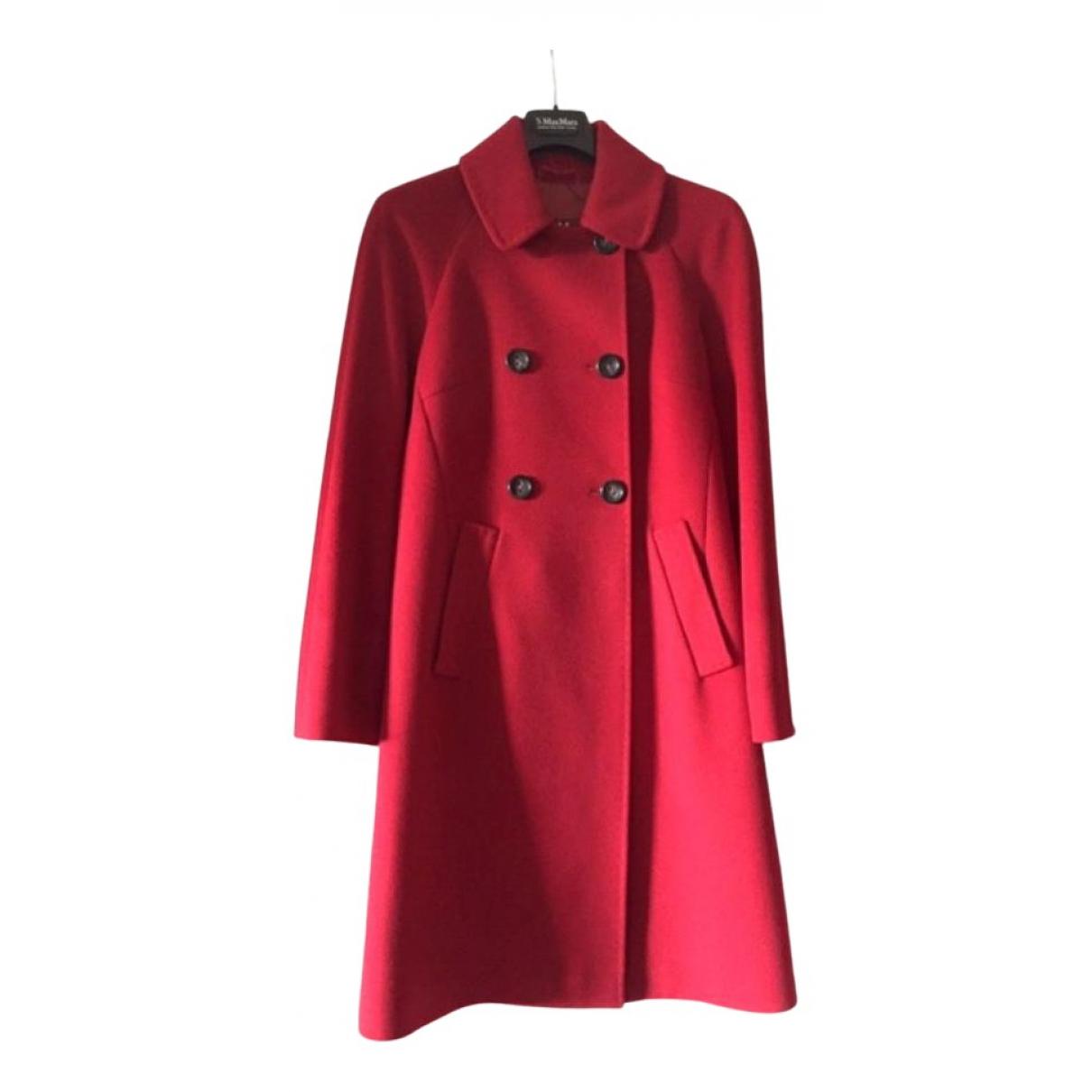 Max Mara Studio N Red Cashmere coat for Women 36 FR