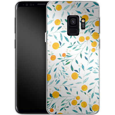 Samsung Galaxy S9 Silikon Handyhuelle - Fresh Citrus von Iisa Monttinen
