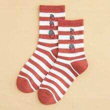 Strawberry Stripe Socks