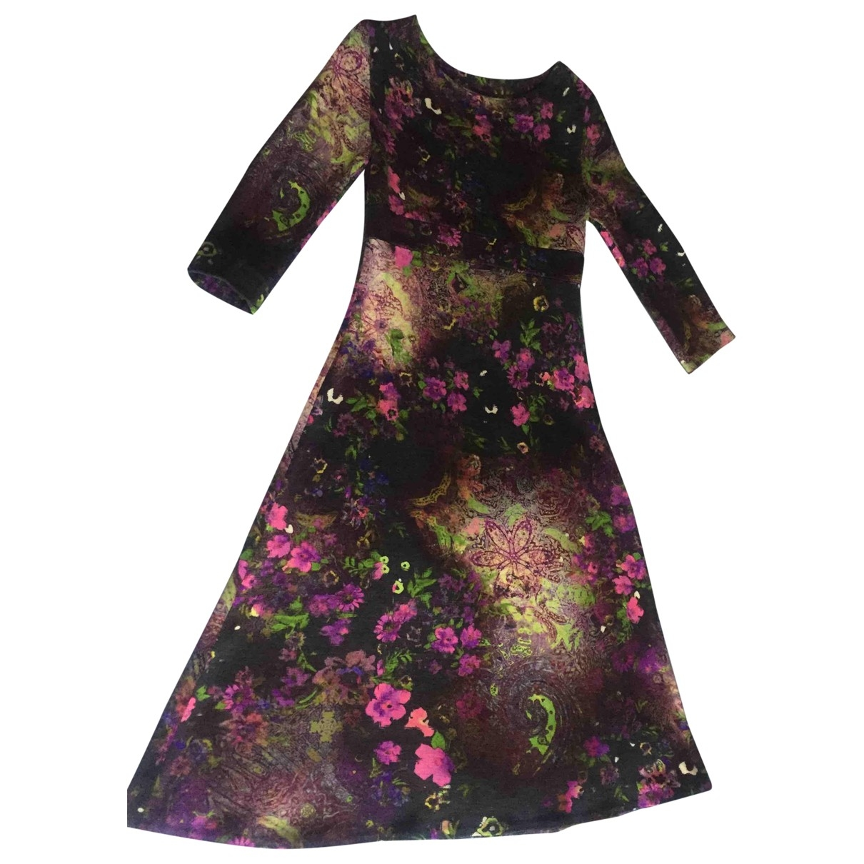 Non Signé / Unsigned \N Multicolour Wool dress for Women 38 IT