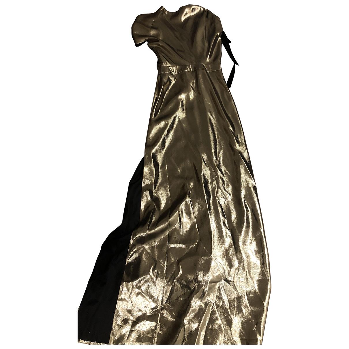 Lanvin \N Kleid in  Gold Polyester