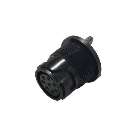 Bulgin Connector, 10 contacts PCB Mount Miniature Socket, Solder IP66, IP68, IP69K (5)