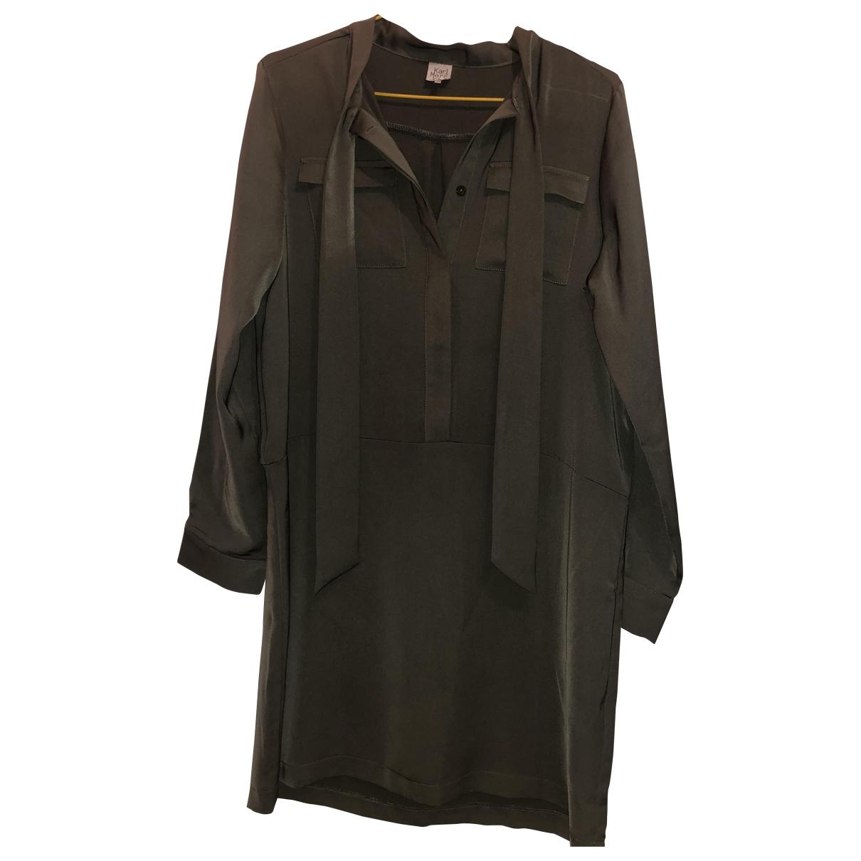 Karl Marc John \N Kleid in  Khaki Polyester