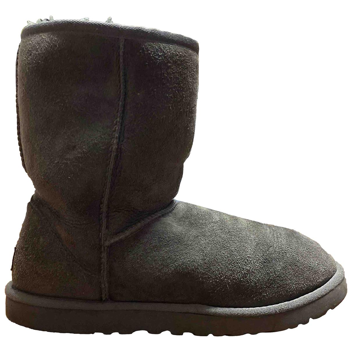 Ugg N Grey Suede Boots for Women 38 EU