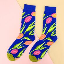 Flower Pattern Socks