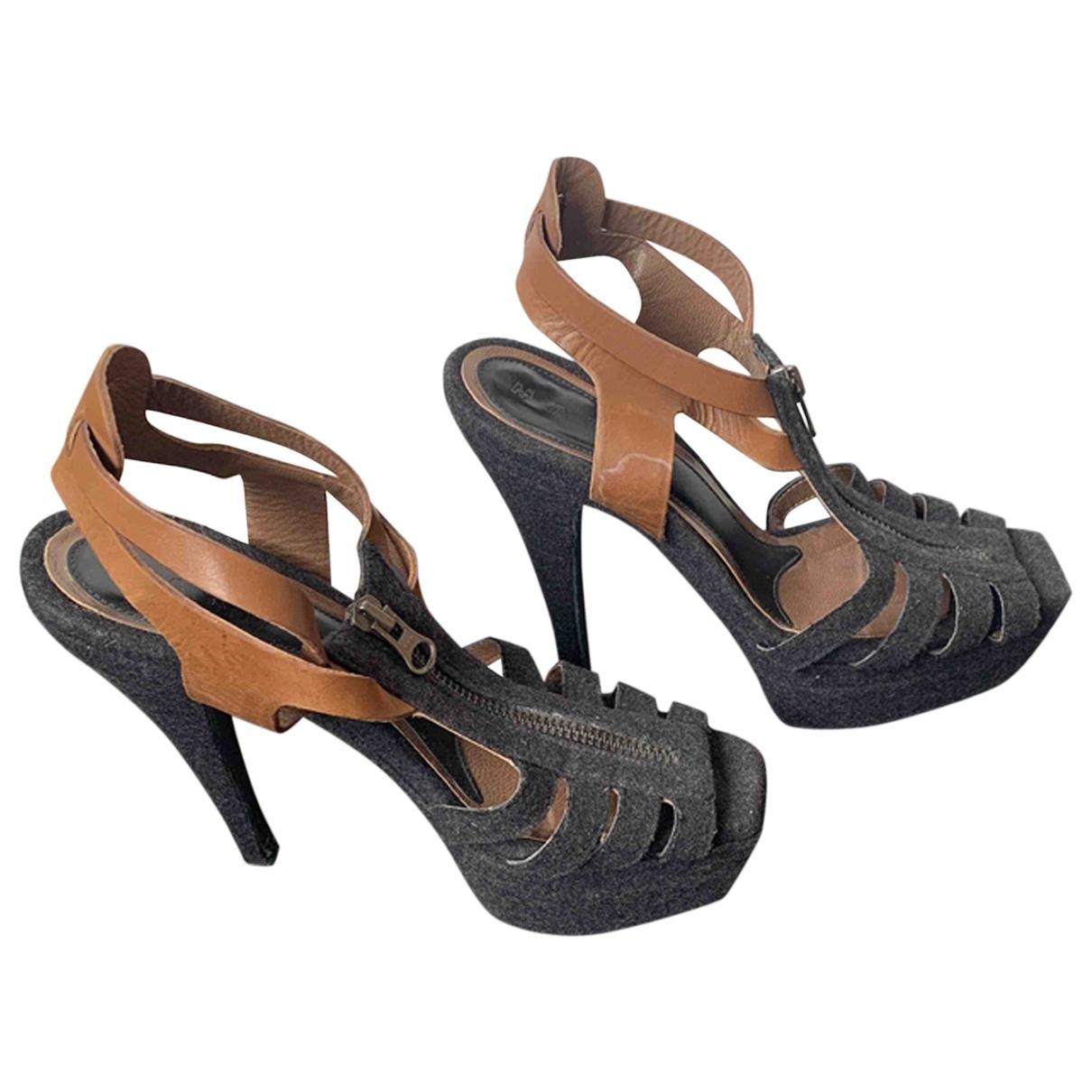 Marni \N Black Cloth Sandals for Women 37 EU