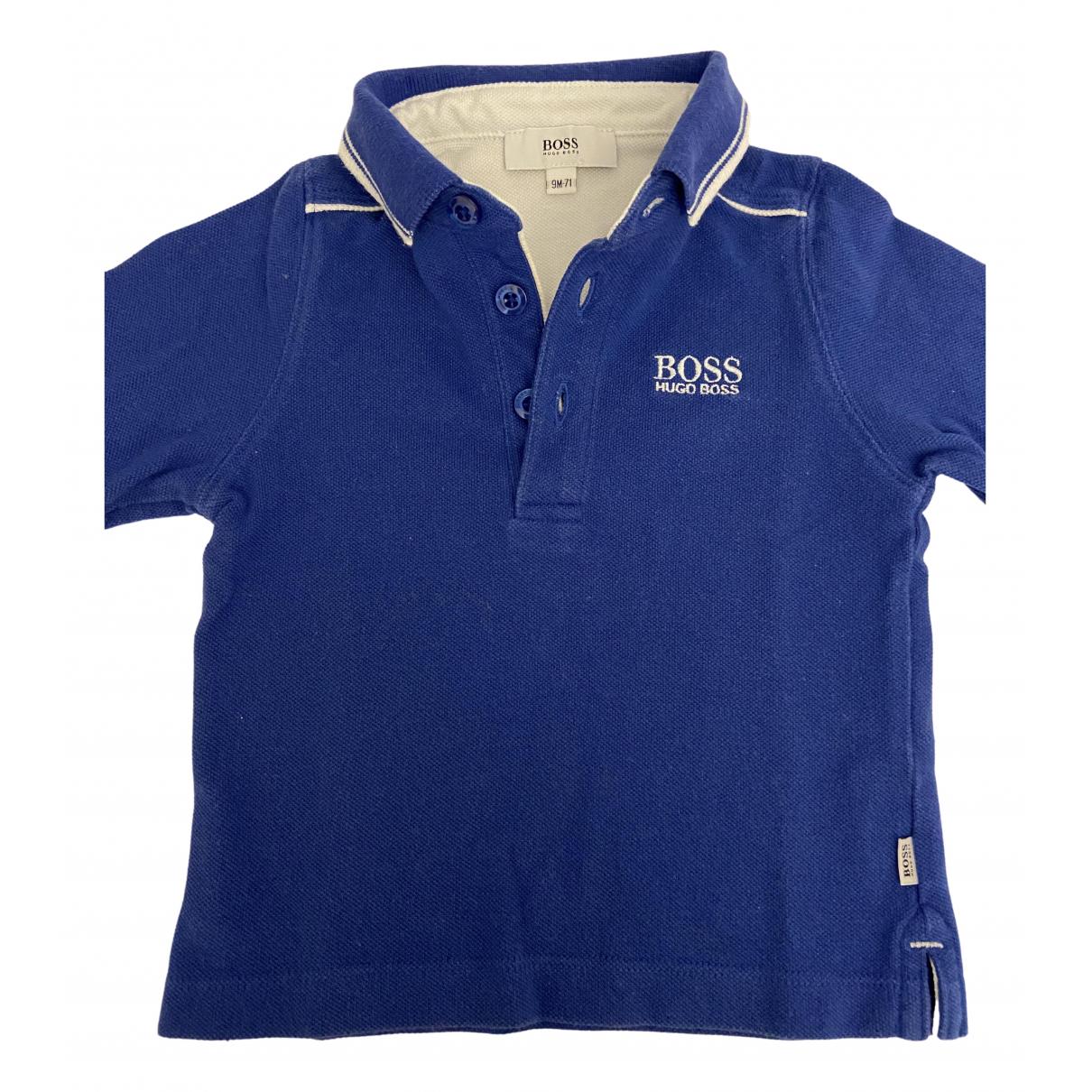 Boss - Top   pour enfant en coton - bleu
