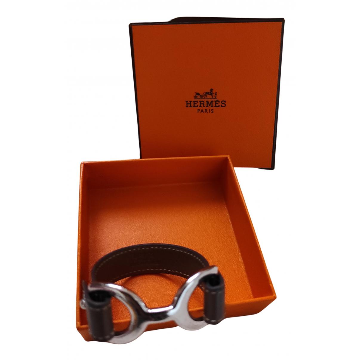 Hermes - Bracelet Pavane pour femme en cuir - marron
