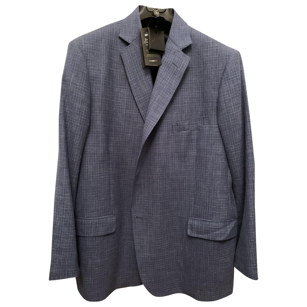 Non Signé / Unsigned \N Blue Wool jacket  for Men 56 FR