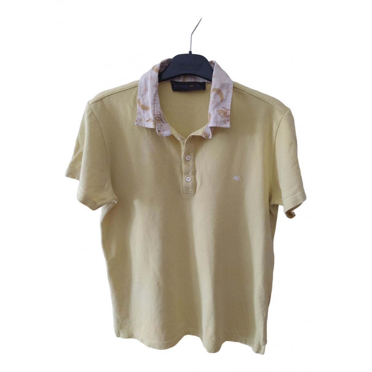 Etro - Polos   pour homme en coton - jaune