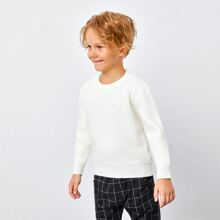 Toddler Boys Rib-knit Solid Sweater