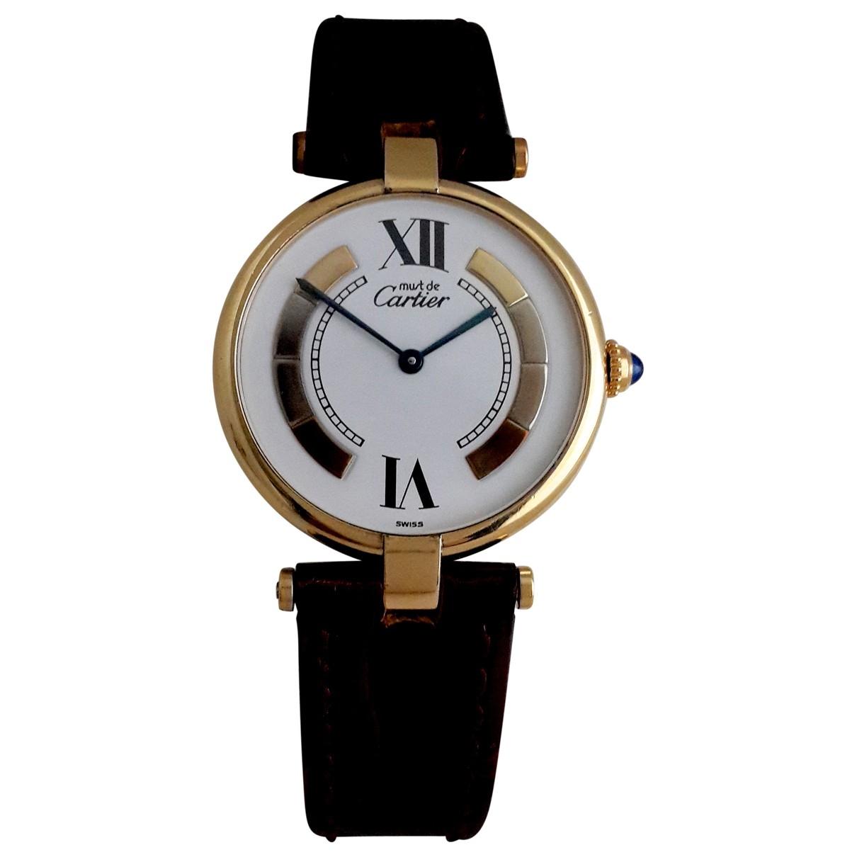 Cartier Must Trinity Uhr in Vermeil