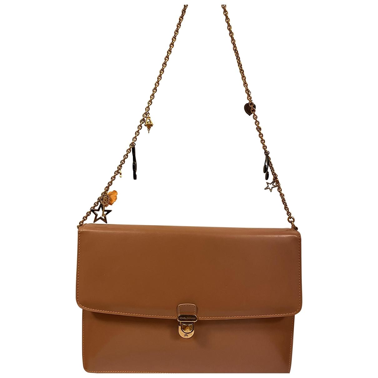 Dolce & Gabbana - Sac a main   pour femme en cuir - beige