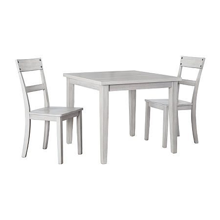 Signature Design by Ashley Loratti 3-Piece Dining Set, One Size , Gray