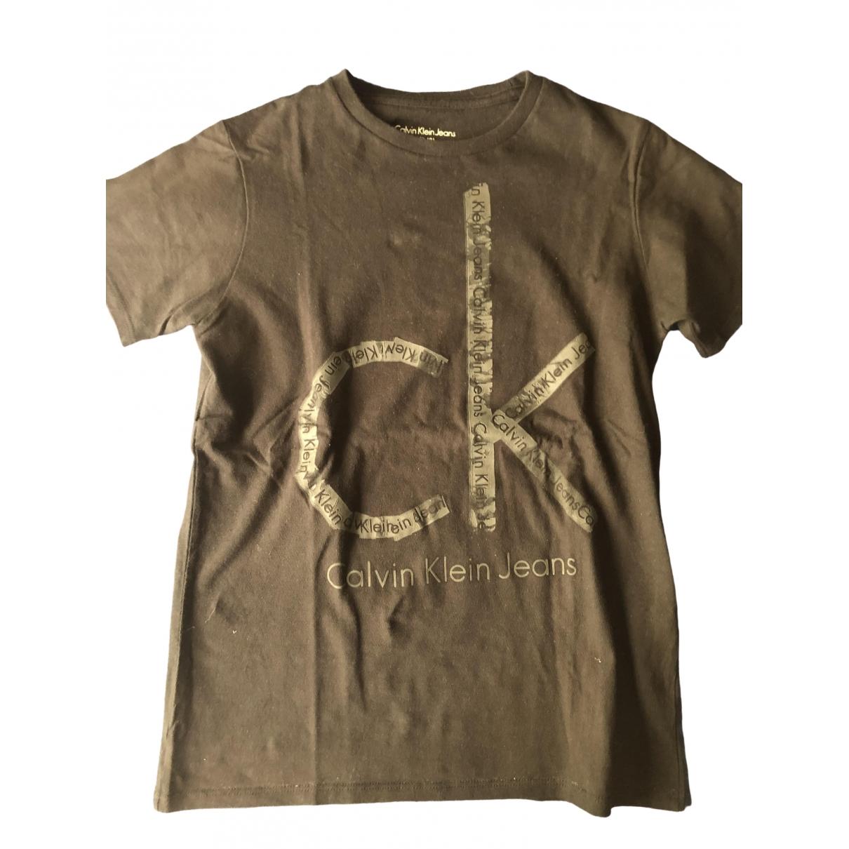 Calvin Klein - Top   pour enfant en coton - noir