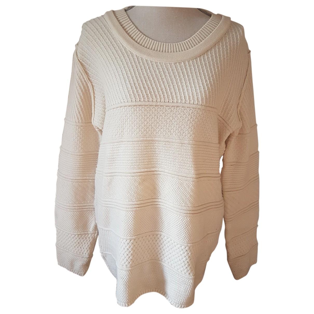 Lacoste - Pull   pour femme en laine - ecru