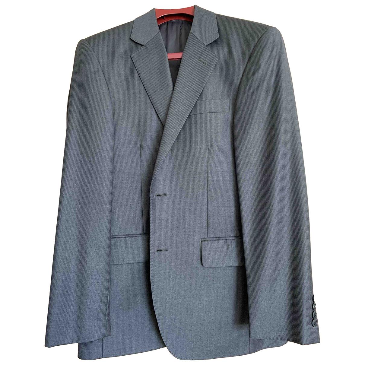 Ermenegildo Zegna \N Anthracite Wool Suits for Men 38 UK - US