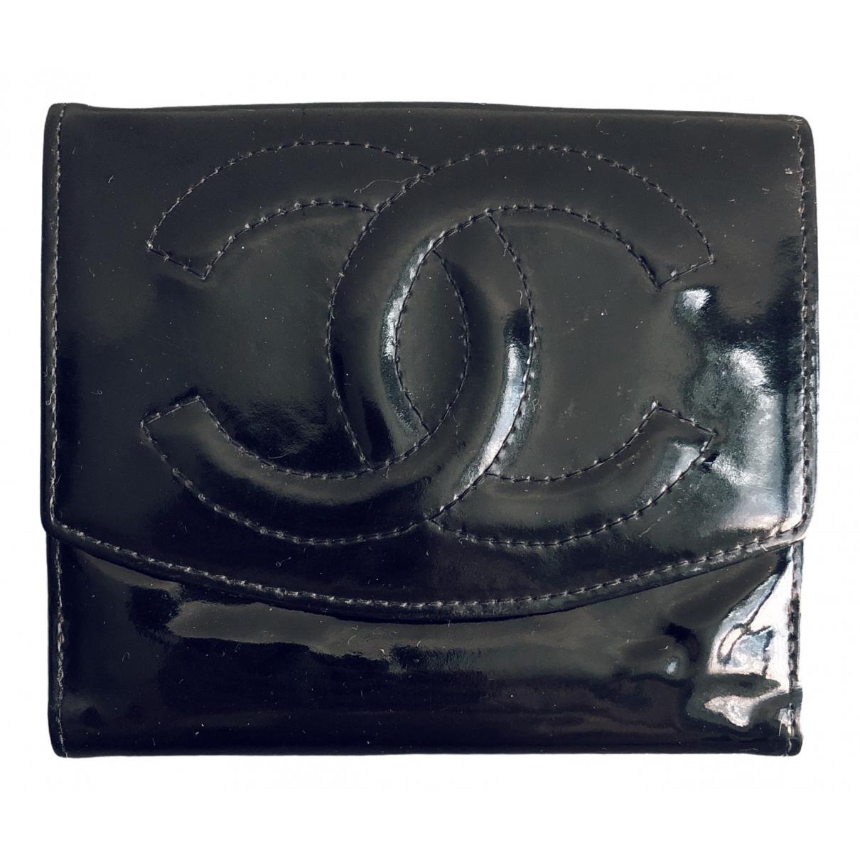 Chanel \N Kleinlederwaren in  Schwarz Lackleder