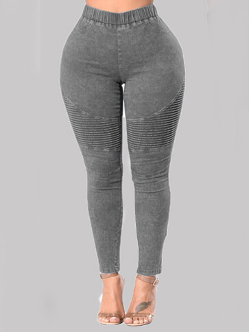 LW Lovely Casual Basic Skinny Grey Jeans