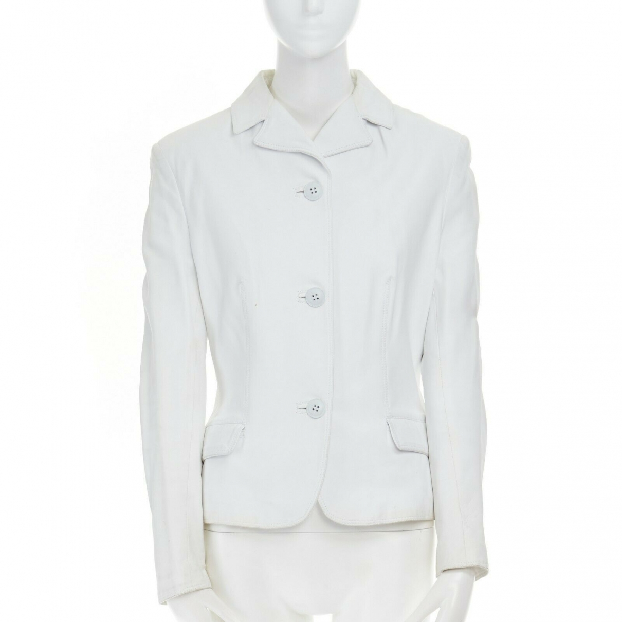 Versace \N White Leather jacket for Women S International